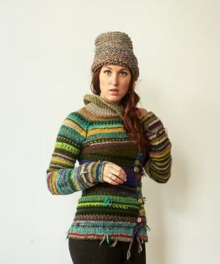 swetry z resztek na drutach