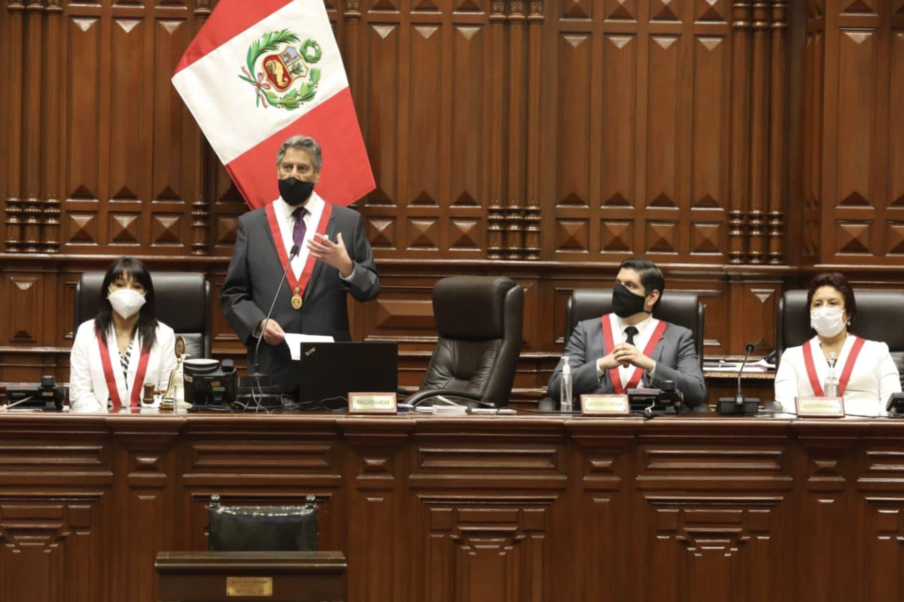 Presidente Sagasti: Trabajaremos para devolverle la confianza a la ciudadanía