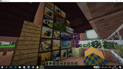 minecraft ház berendezve