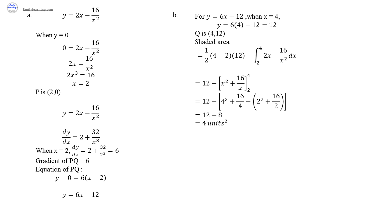 O level additional mathematics specimen paper 2 question 3 solution on differentiation and integration