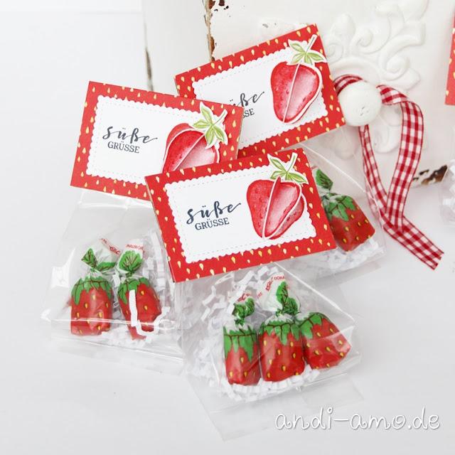 Schnelle Goodies mit Erdbeerdeko DIY