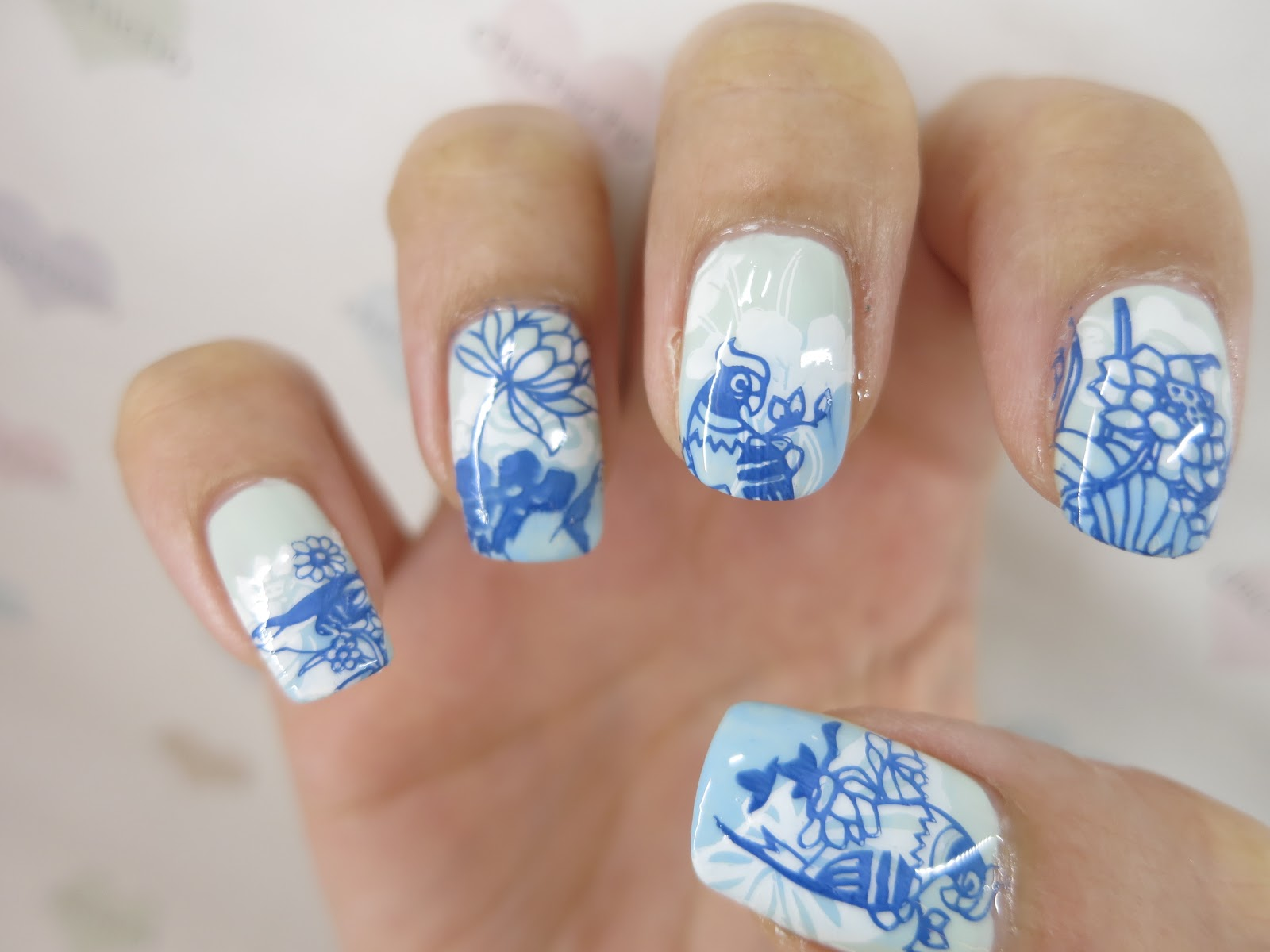 Water Lilies Nail Art With Image Plate Bp 80 Born Pretty Review