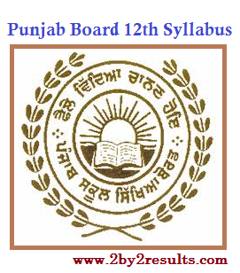 PSEB Syllabus of 12th Class | Punjab Board 12th Syllabus of all Subjects