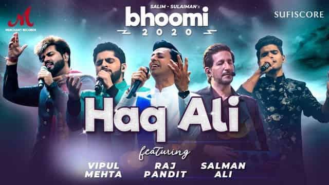 हक़ अली Haq Ali Hindi Lyrics - Bhoomi | Salim Merchant