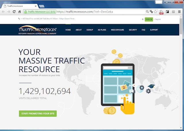 Главная страница проекта TrafficMonsoon (Трафикмонсун)