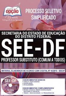 SEE-DF abre inscrições do Processo Seletivo para professor temporário