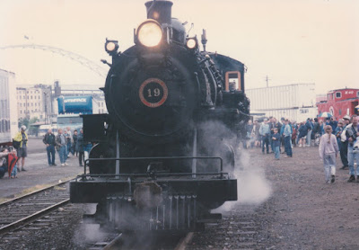 Sumpter Valley Railway 2-8-2 #19 at Union Station in Portland, Oregon on May 11, 1996