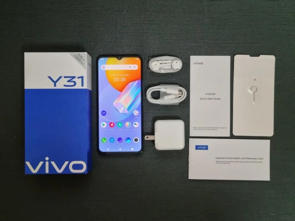 vivo Y31 Retail Package