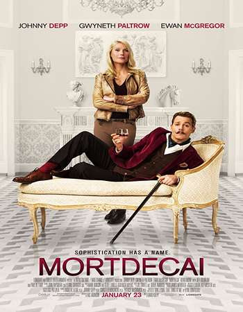 Poster Of Free Download Mortdecai 2015 300MB Full Movie Hindi Dubbed 720P Bluray HD HEVC Small Size Pc Movie Only At worldfree4u.com