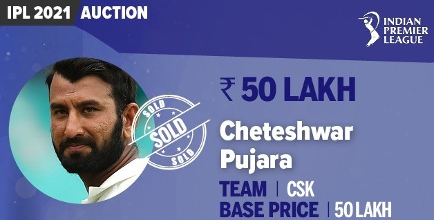 Cheteshwar Pujara IPL 2021 Auction price