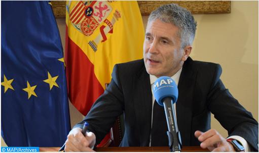 """التنسيق مع المغرب """"في أفضل حالاته"""" (وزير الداخلية الإسباني)"""