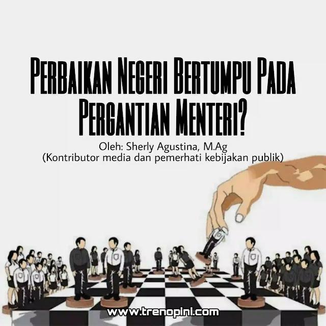 pemerintahan Jokowi melakukan reshuffle kabinet Indonesia Maju. Ada enam yang diganti, yaitu Menag, Menparekraf, Mendag, Mensos, Menkes, dan Menteri KKP. Alasannya macam-macam, ada yang karena korupsi, tidak kompeten, tidak amanah, dan sebagainya. Ini adalah reshuffle yang kelima pasca Jokowi dilantik menjadi presiden RI periode kedua