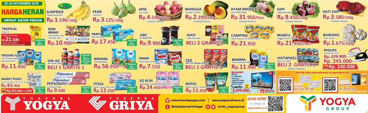 Yogya - Promo Katalog Harga Heran Periode 23 - 25 November 2018