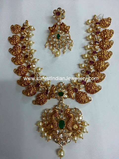 Intricate Mamidi Pindela Necklace
