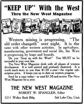 Advertisement for The New West Magazine