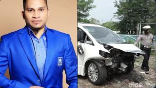 Putra Amien Rais, Hanafi Rais Alami Kecelakaan Beruntun di Tol Cipali