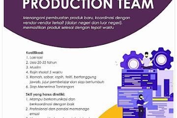 Lowongan Kerja Produksi Sakeena Bandung