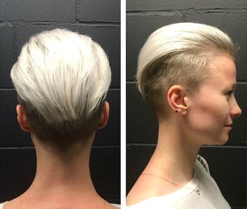 Short Undercut Pixie with Two-Tone Hair Color
