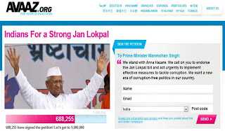 support Anna Hazare and share on your social networks