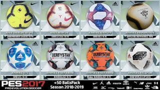 PES 2017 Big BallPack +50 New Balls 2018/2019