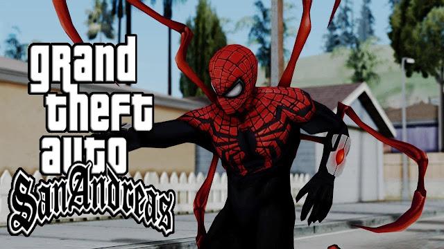 تحميل مود سبايدرمان gta sa شرح تثبيت مود الرجل العنكبوت جتا سان GTA San andreas Spider Man Mod