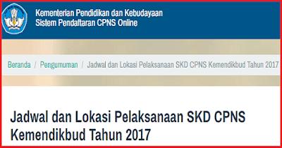 Jadwal dan Lokasi Seleksi Kompetensi Dasar (SKD) CPNS 2018