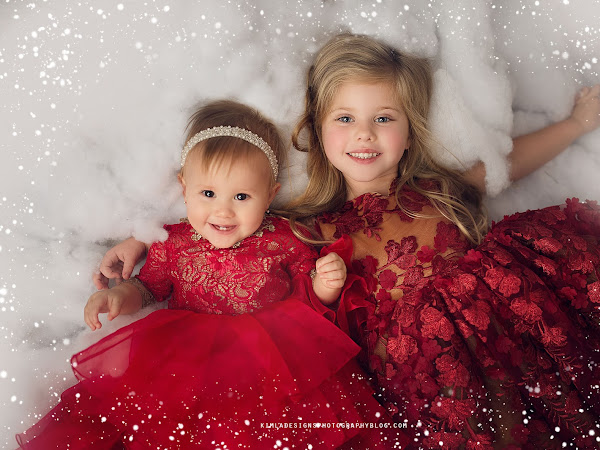 Free White Winter Snow Photo Frame Overlay for Photographers