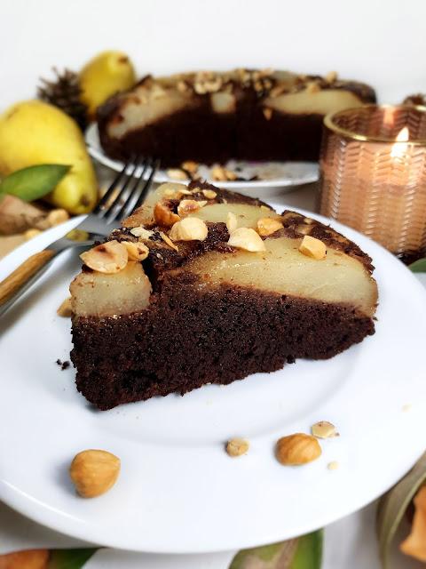GATEAU POIRES CHOCO NOISETTES - allégé - sans lactose - sans gluten