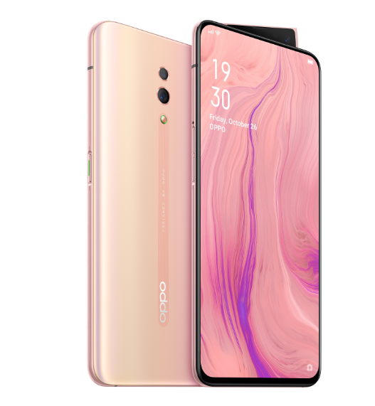OPPO Reno Sunset Rose colorway.