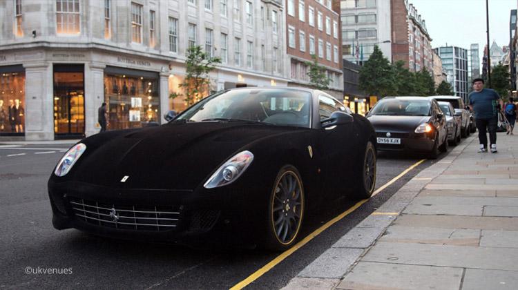 velvet wrapped ferrari 599 in gtb london