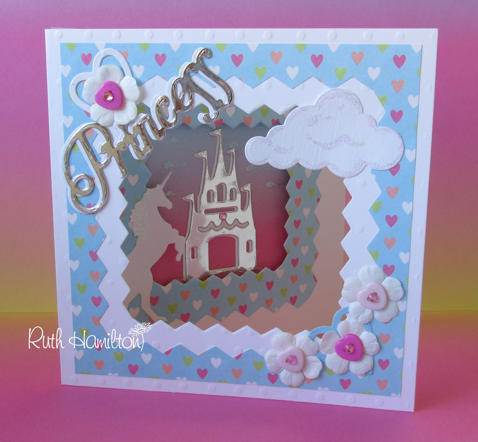 A passion for cards how to make a 3 fold princess card with how to make a 3 fold princess card with trimcrafts simply creative collection and first edition dies kristyandbryce Image collections