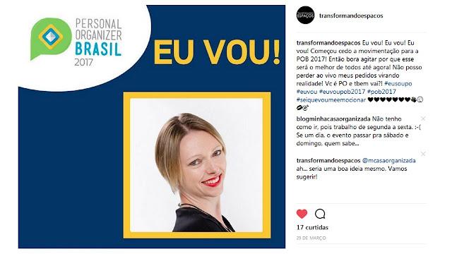 O Personal Organizer Brasil 2017 está quase aí!
