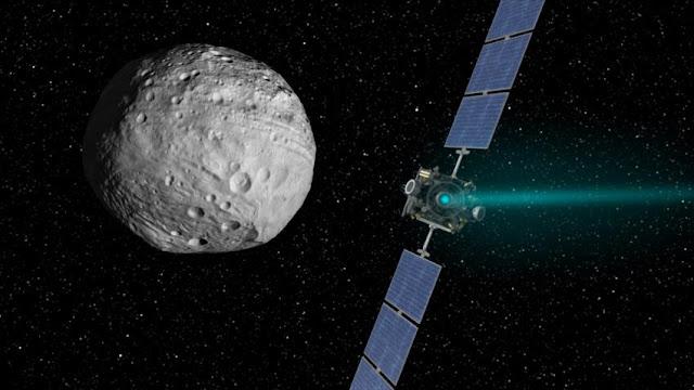 Nave espacial Dawn chega ao fim de sua missão