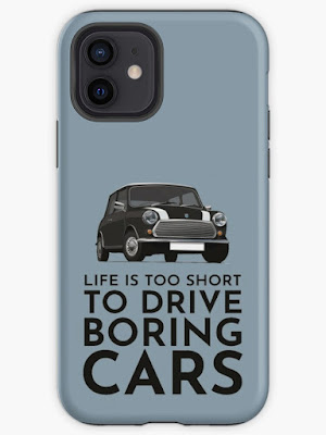Life is too short to drive boring cars - Austin Morris classic iphone cover