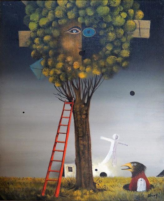 Eduard Alcoy cuadro surrealista árbol