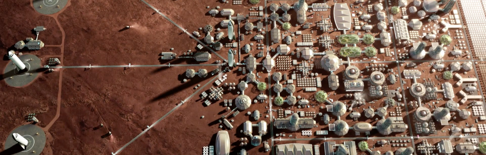 Space City 'Self-Sustainable Habitat' On Mars