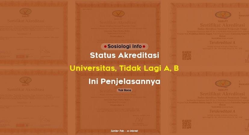 Model Baru (Status) Akreditasi Universitas, Tidak Lagi A, B, C ? Ini Penjelasannya