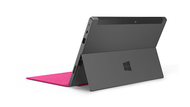 Microsoft Surface Tablet with Windows 8 Pro & RT back side