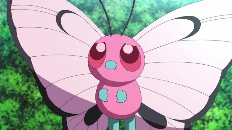 Butterfree Rosa Anime Pokémon