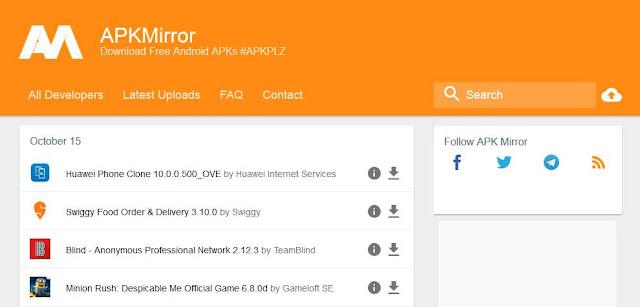 Situs Download APK Selain Play Store