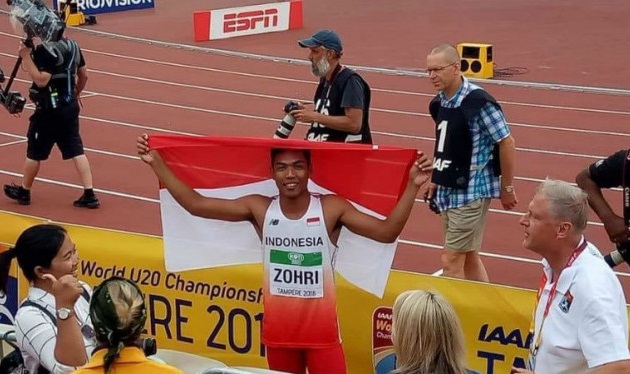 Lalu Muhammad Zohri juara dunia