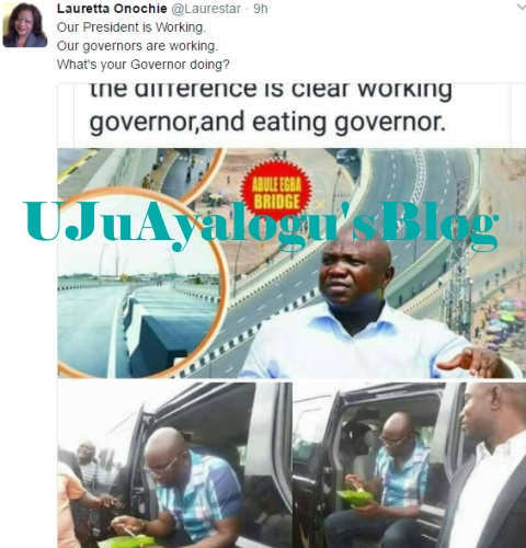 Lauretta Onochie shades Governor Fayose on twitter