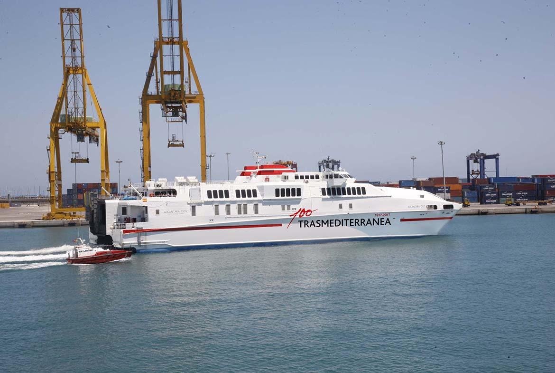 Resultado de imagen de Trasmediterránea incorpora un cuarto buque, solo de carga, a la línea Cádiz-Canarias