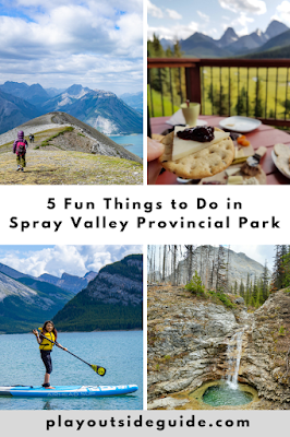 Spray Valley Provincial Park pinterest pin