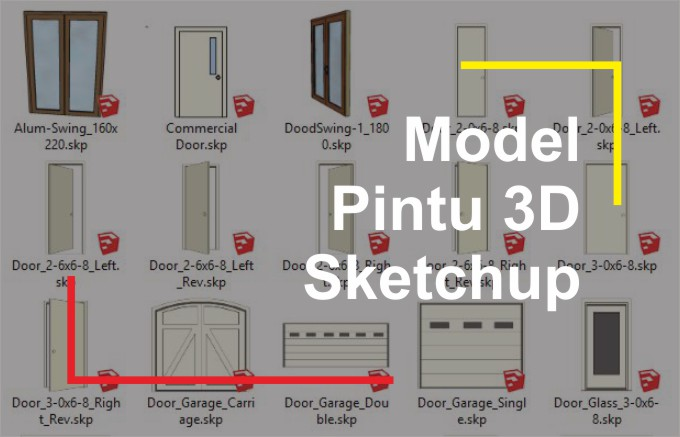 Download Pintu 3D File Sketchup