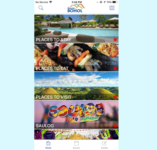 Successfully Download iPhone App Store Behold Bohol App to your Android Device  Best Free Updated Travel App Panglao Bohol Philippines 2018 and Easy to use Translated languages chinese korean japanese spanish german italian simple chinese
