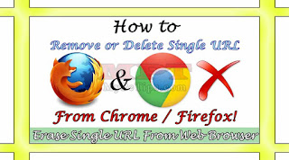 Remove/Delete Single URL from Chrome/Firefox Web Browser