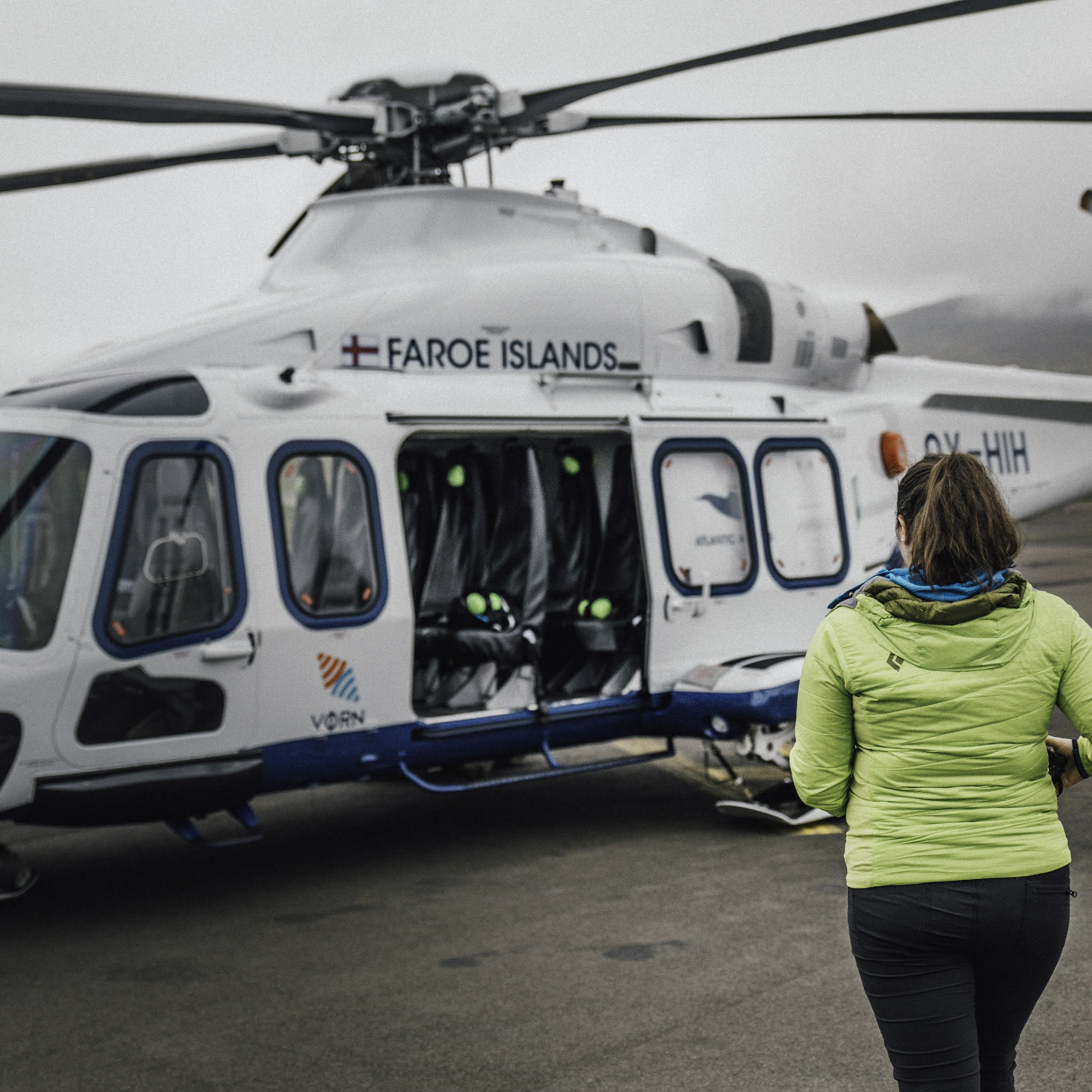 A Helicopter Ride in the Faroe Islands to Mykines liquid grain