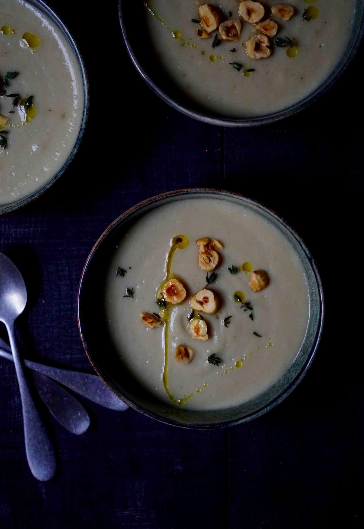 topinambours , soupe , noisettes , soupe chic