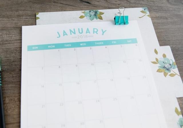 Calendário de 2018 para baixar